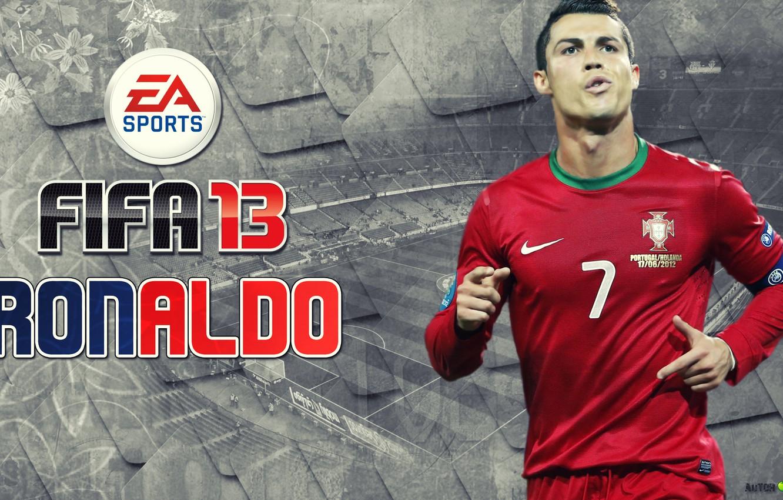 Фото обои игра, Cristiano Ronaldo, португалия, фифа 13