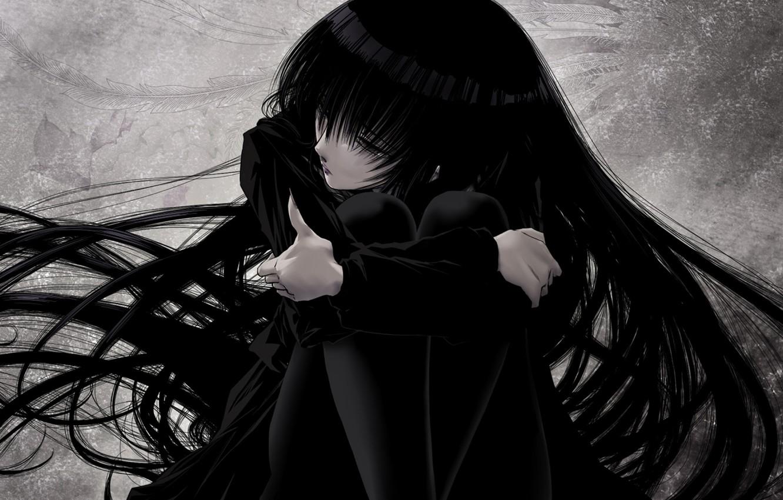 Картинка аниме печаль