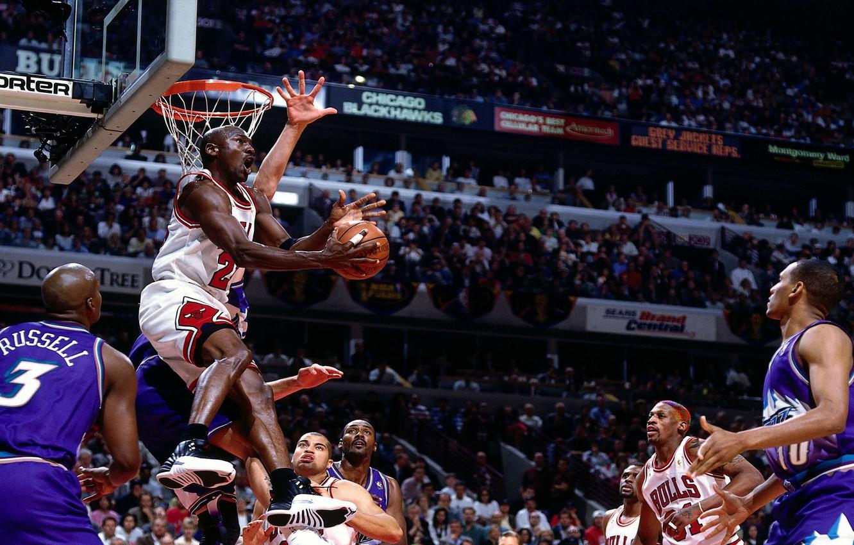 Фото обои Баскетбол, Michael Jordan, NBA, Майкл Джордан, НБА, Chicago Bulls, Basketball