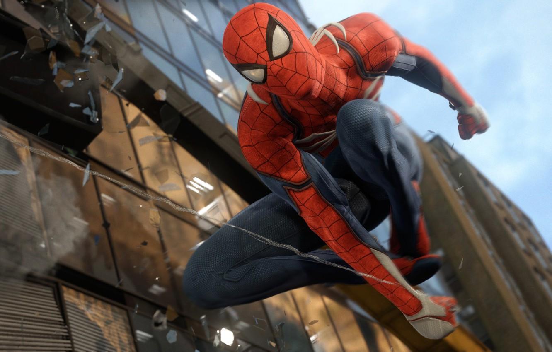 Фото обои Паук, Человек, Spider, Man