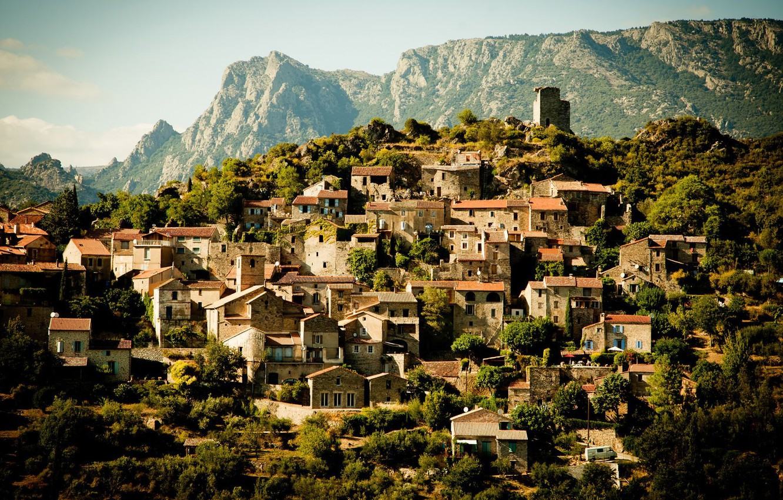 Обои france, Пейзаж, здания, городок, дома. Города foto 6