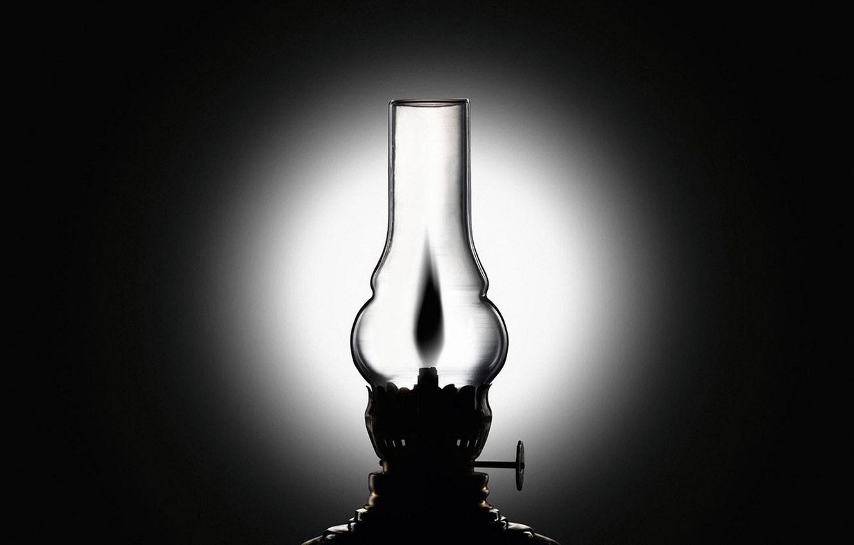 Фото обои черно-белая, Лампа, керосинка