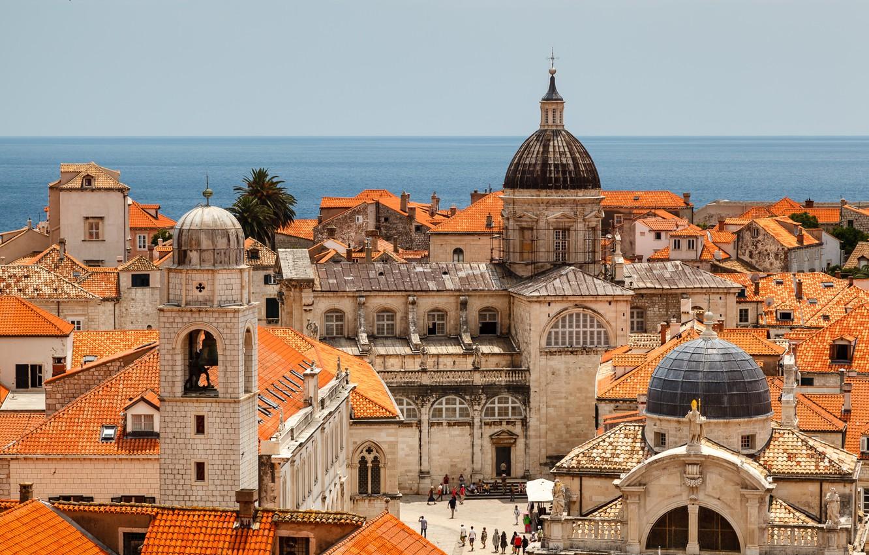 Обои Dubrovnik, здания, остров, дома, croatia, хорватия, адриатическое море, adriatic sea. Города foto 15