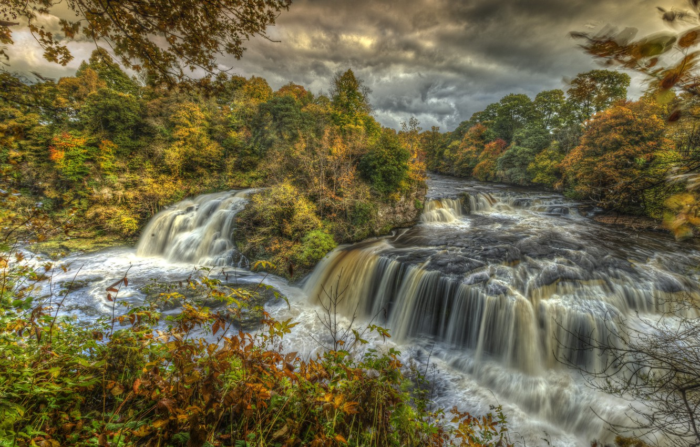 Обои водопад, осень, Пейзаж. Пейзажи foto 8