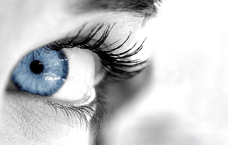 Фото обои взгляд, чистота, глаз, ресницы