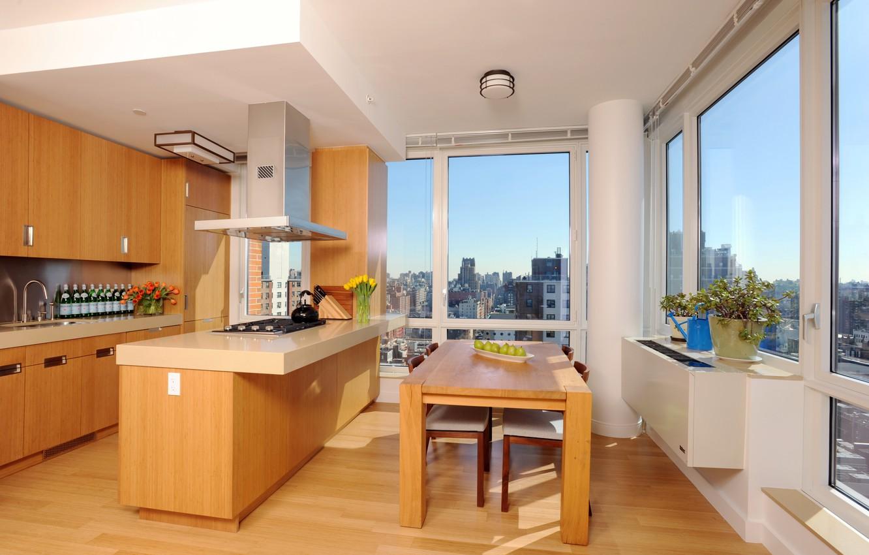 Фото обои дизайн, стиль, комната, интерьер, кухня, мегаполис, апартаменты