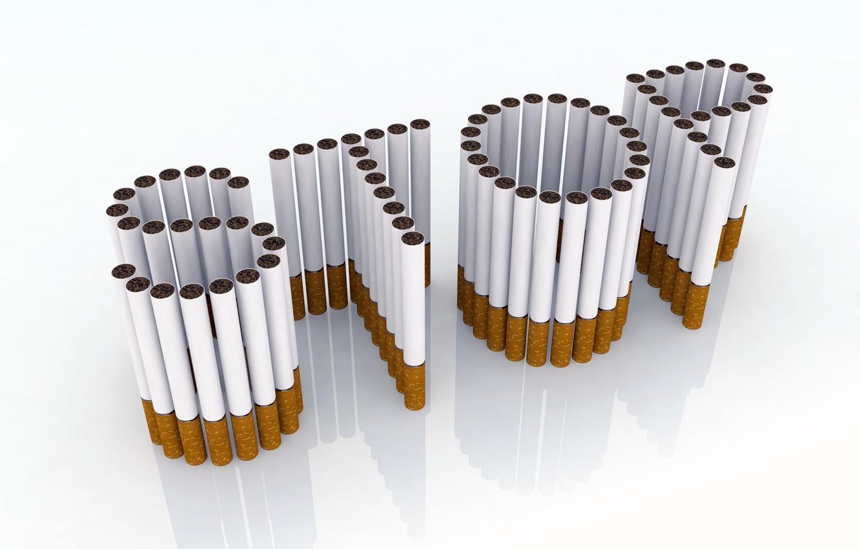 Фото обои стоп, девиз, сигареты, рендер, курение, композиция, призыв
