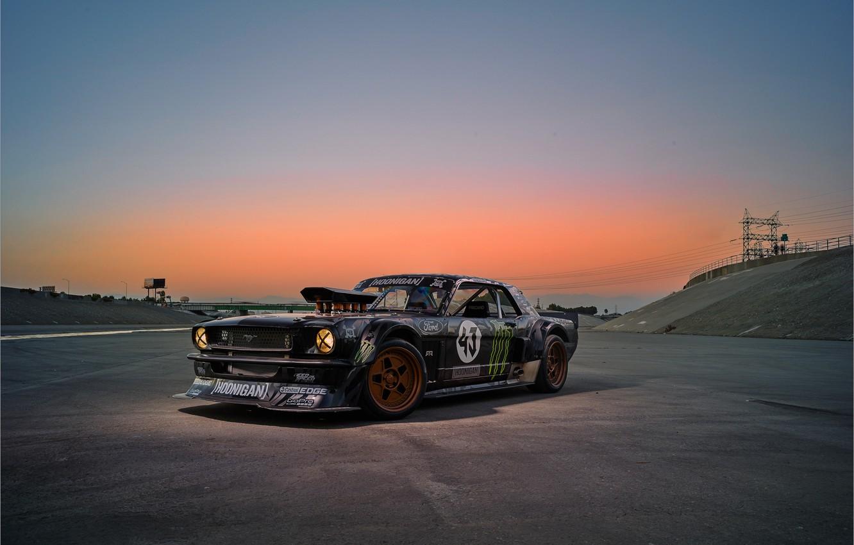 Фото обои Mustang, Ford, Sky, Monster, 1965, Sunset, RTR, Block, Ken, Gymkhana, Energy, Rear, Hoonicorn, SEVEN, 845 …