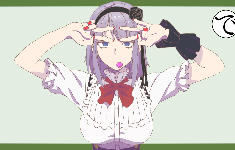 Фото обои аниме, Дешёвые сласти, Хотару Шидарэ, Shidare Hotaru, Магазинчик сладостей, Dagashi Kashi