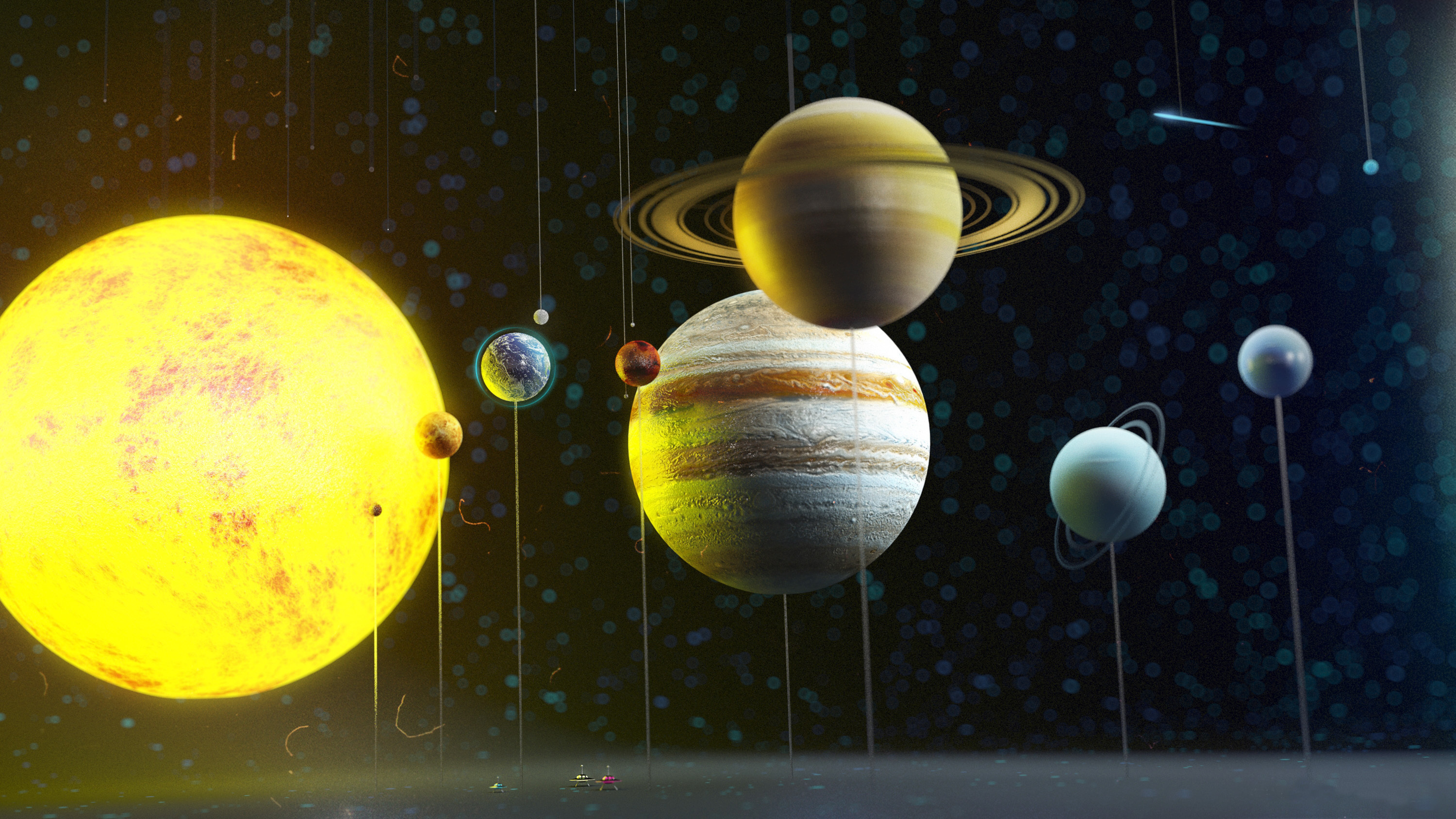 real pictures of the solar system - HD 3000×1687