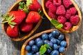 Картинка ягоды, малина, голубика, клубника