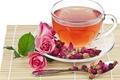 Картинка чай, роза, ложка, чашка