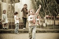 Картинка Парк, дети, фонтан, веселье