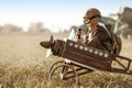 Картинка aviator glasses and hat, toy airplane, games