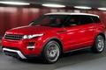 Картинка красный, land rover, рэйндж, лэнд, ровер, кроссовер, range rover, evoque, эвок, машина, авто