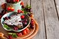 Картинка черешневый пирог, черешня, выпечка