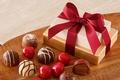 Картинка box, шоколад, ribbon, конфеты, chocolate, gift, candy