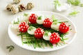 Картинка яйца, помидоры, перепелиные, еда, зелень, черри