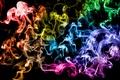 Картинка Дым, разноцветный, кольца