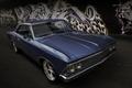 Картинка ретро, Chevrolet, классика, передок, 1966, Chevelle