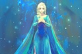 Картинка Frozen, девушка, Elsa, арт, Эльза, платье, Холодное сердце