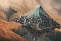 Картинка пустыня, пирамида, сооружения, oasis