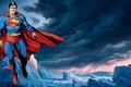 Картинка плащ, супермэн, superman, супергерой, рисунок, супермен, полет, мужчина, символ, костюм
