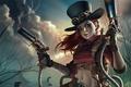 Картинка warrior, makeup, steampunk, weapons