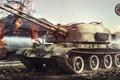 Картинка Игры, Games, ZSU-57-2, World of Tanks, Art, FuriousGFX, ЗСУ-57-2, СССР