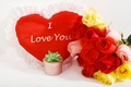 Картинка Розы, Сердце, фото, Цветы, Праздники, Подарки, День святого Валентина