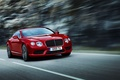 Картинка Continental, Bentley, Range, Машина, Фары, Красный, Передок