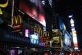 Картинка New York City, NYC, такси, Нью-Йорк, Макдональдс, город, таймс сквер, ночь, times square, McDonald's