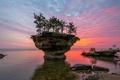 Картинка США, озеро Гурон, штат Мичиган, скала Turnip Rock