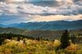 Картинка Северная Каролина, облака, холмы, весна, небо, леса