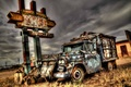 Картинка HDR, Car, New Mexico, background, Tucumcari, Abandoned Chevy