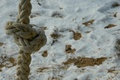 Картинка снег, канат, песок