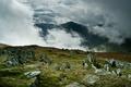 Картинка Горы, камни, туман