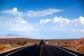 Картинка дорога, облака, пустыня, Невада, сша