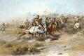 Картинка картина, живопись, painting, 1903, The Custer Fight, Charles Marion Russell
