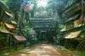 Картинка дома, голова, джунгли, храм, рынок, вход, улочка, базарчик, божества, jianlu