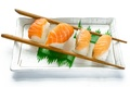 Картинка палочки, семга, рис, суши