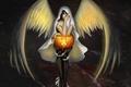 Картинка взгляд, праздник, крылья, ангел, сапоги, черепа, хэллоуин, halloween