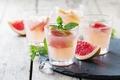 Картинка напиток, листья, фрукты, еда, стаканы, грейпфрут, лёд, мята