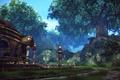 Картинка лес, деревья, пейзаж, сооружение, тера, Tera Online