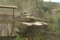 Картинка Crysis, танк, пальмы, хижина