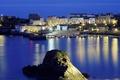 Картинка rocas, noche, puerto