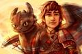 Картинка Hiccup, Как приручить дракона, Hiccup Horrendous Haddock, How to Train Your Dragon, Toothless