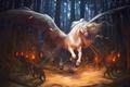 Картинка Александра Хитрова, GaudiBuendia, арт, крылья, фэнтези, конь, пегас