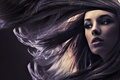 Картинка макияж, ветер, лицо, девушка, волосы