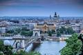 Картинка природа, архитектура, город, Magyarország, Венгрия, Цепной мост Сечени, Будапешт, Дунай, река, Széchenyi lánchíd, Budapest